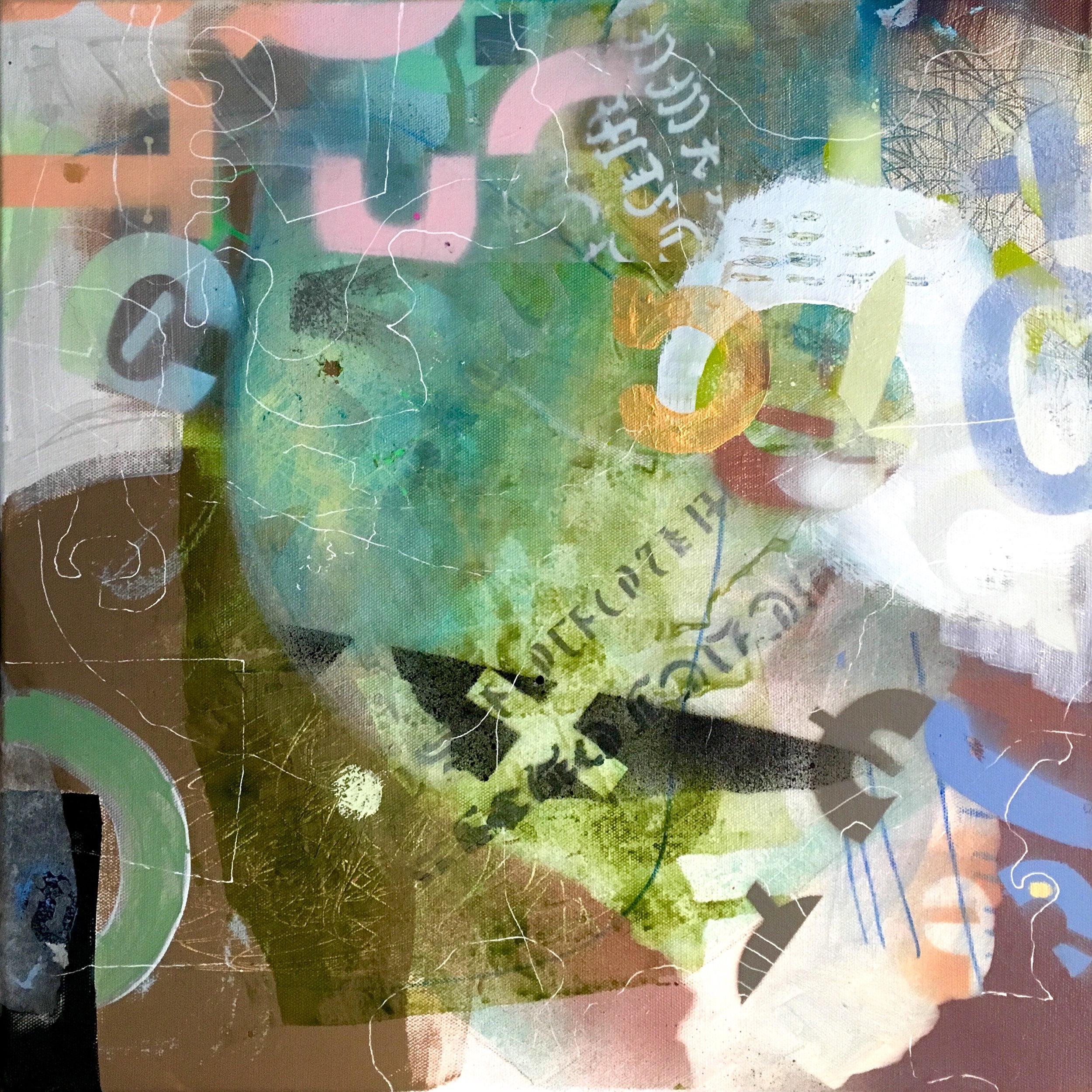 "Karst 16""x 16"" mixed media on canvas"