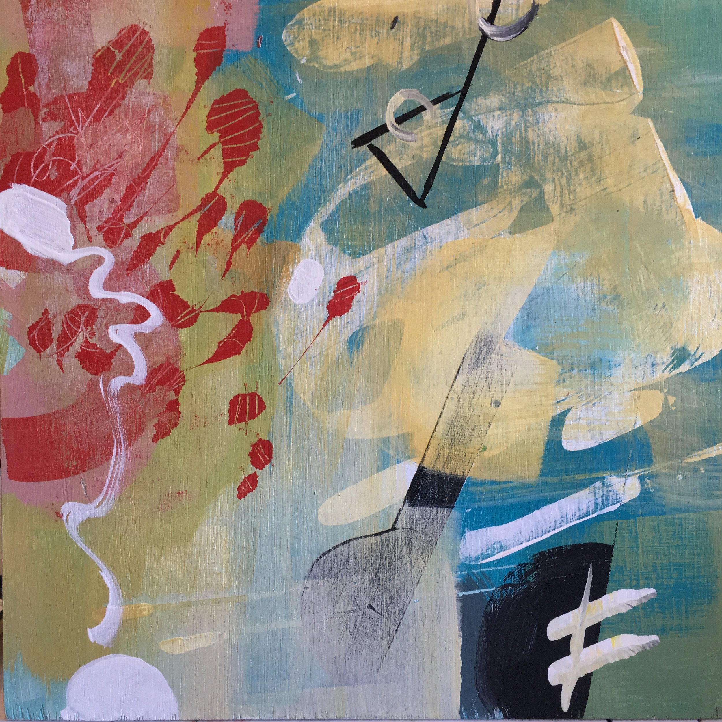 """Summer Saturate 12""""x12"""" acrylic on wood panel"""