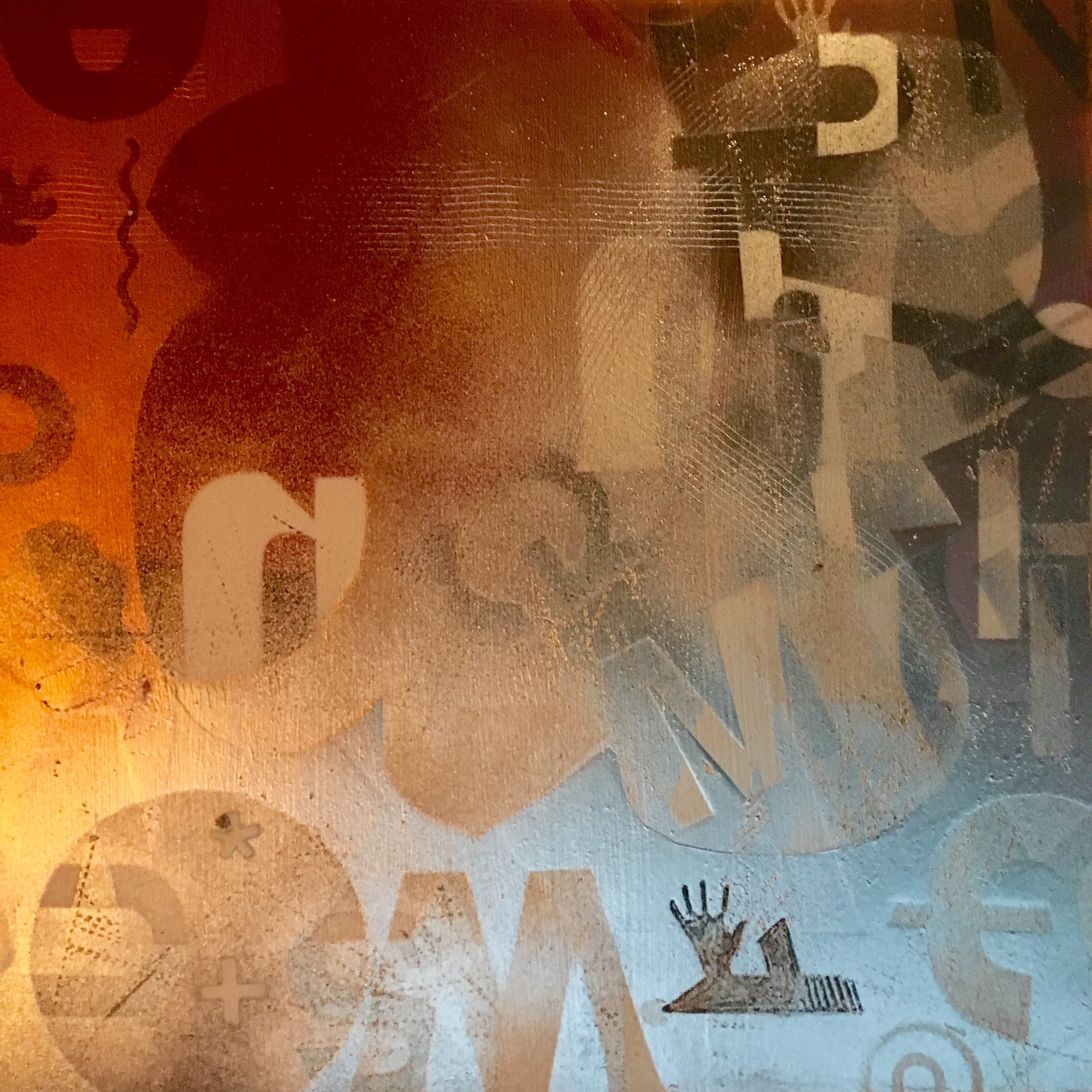 "Koi Message 12""x12"" acrylic on wood panel | SOLD"