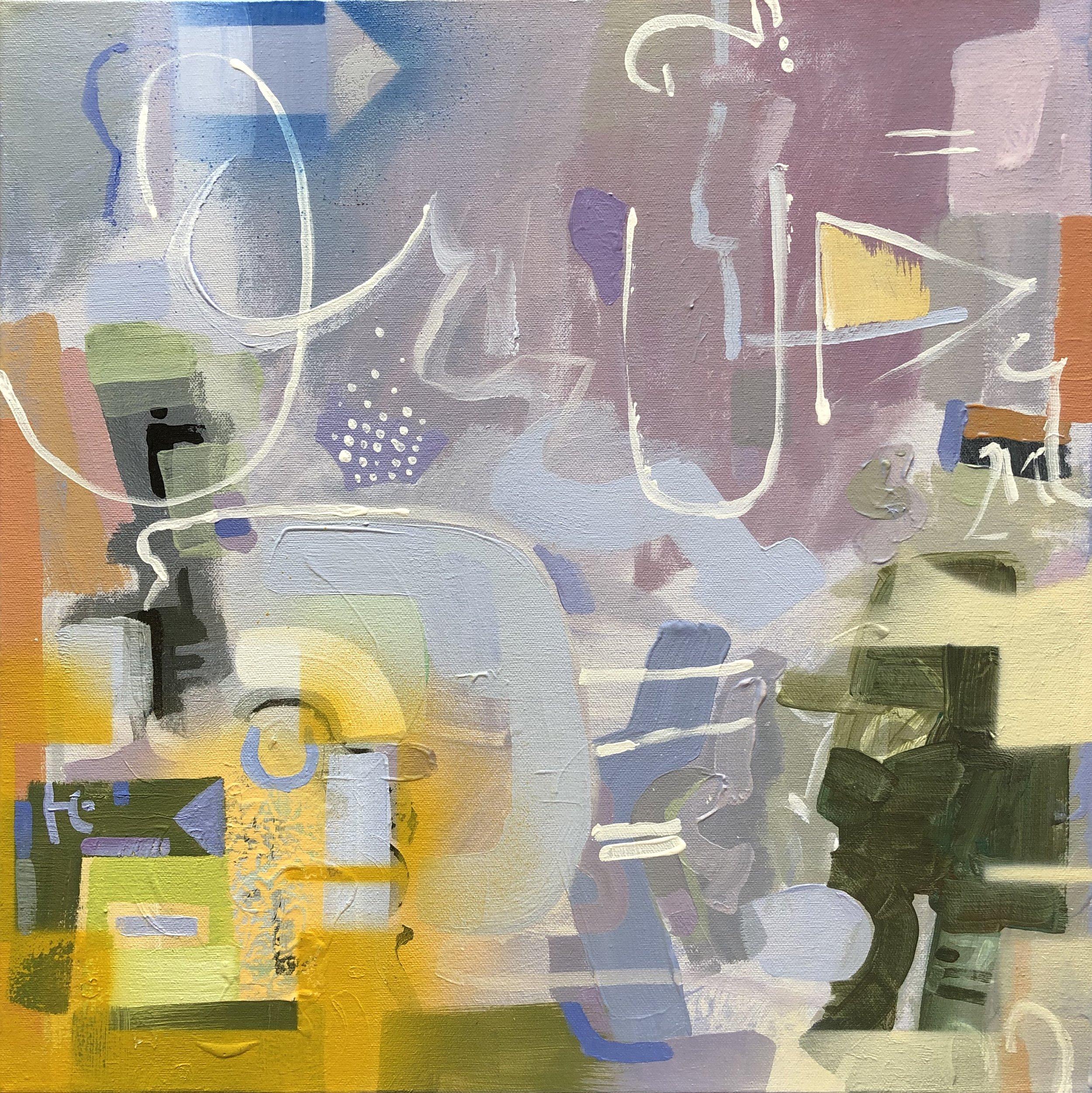"""Fragranza III 20""""x 20"""" acrylic on canvas"""