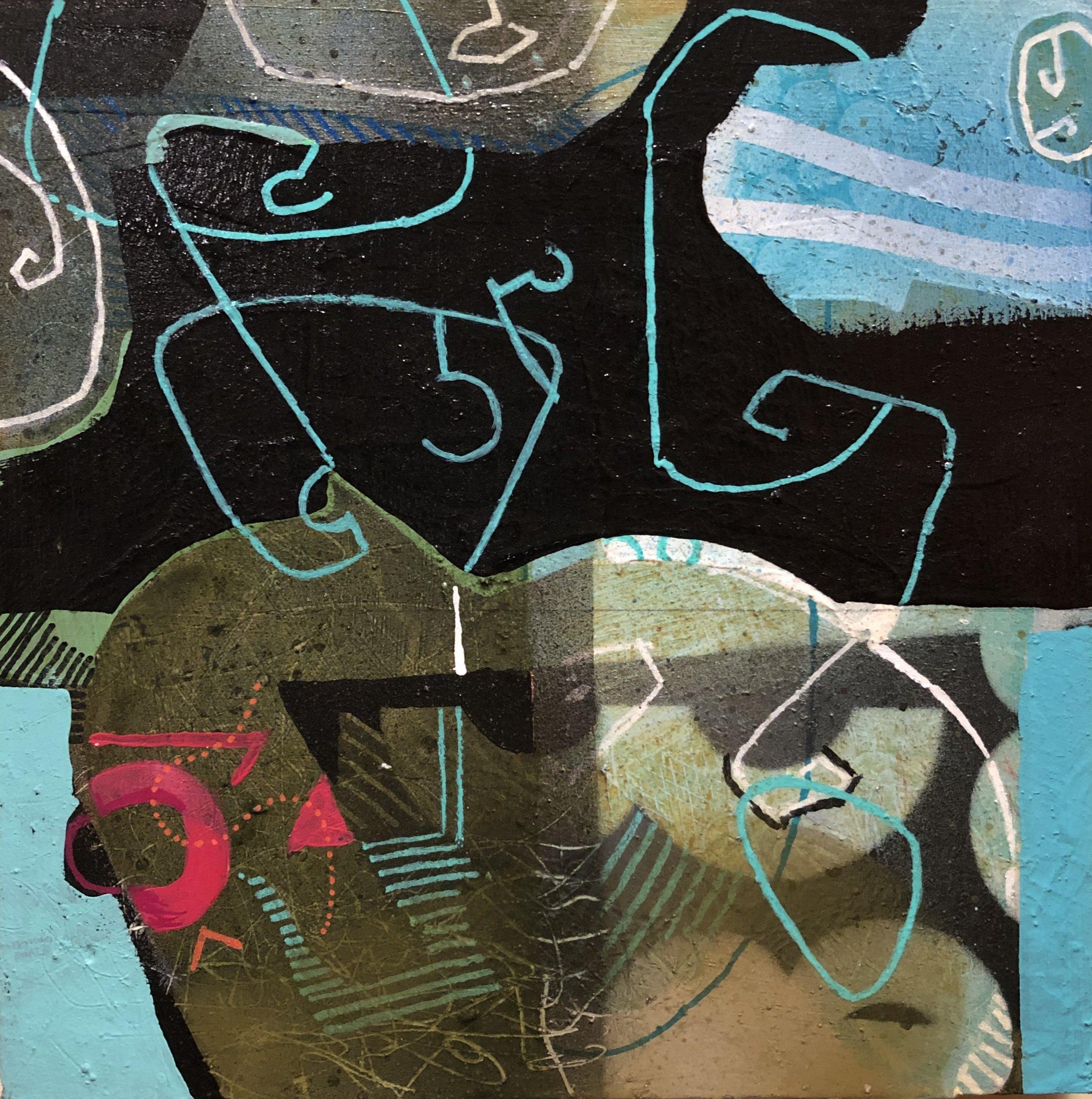 """Fragranza II  8""""x 8"""" acrylic on cradled panel"""