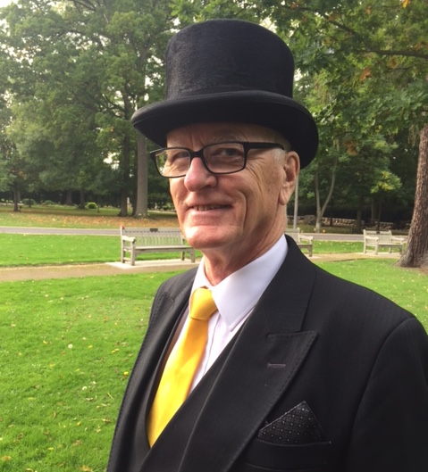Funeral Director of four decades, David Norton, pictured after a recent ceremony we did together where the family asked for a splash of colour!