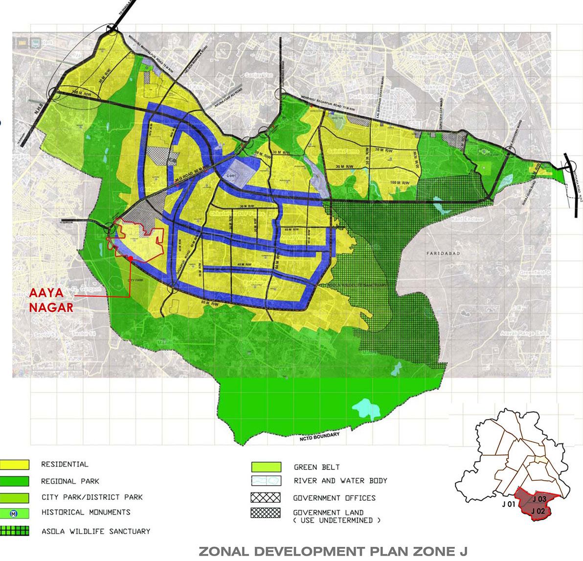 Zone J - land use
