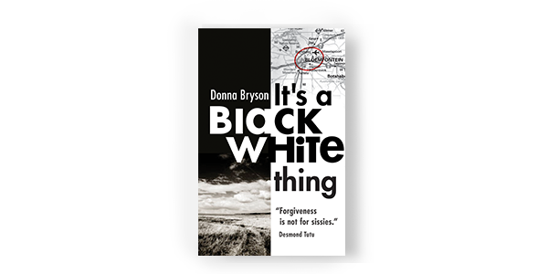 book cover it's a black-white thing donna bryson