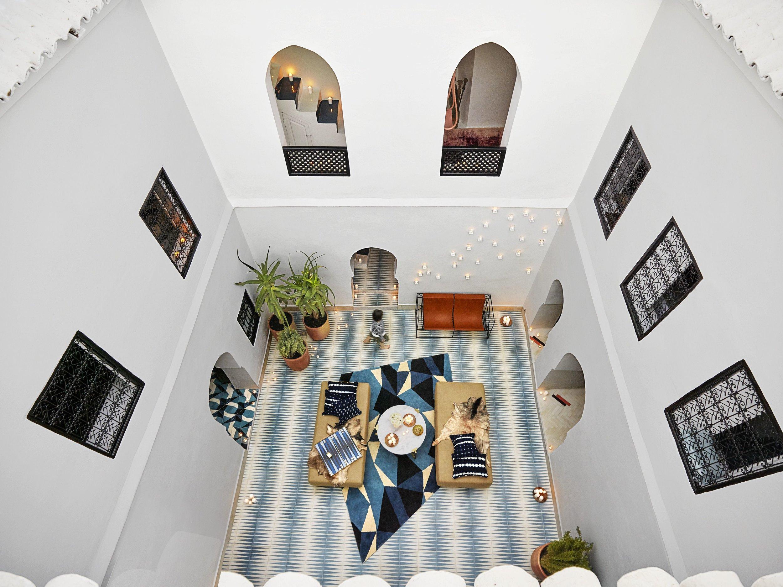 Courtyard - Backgammon tiles