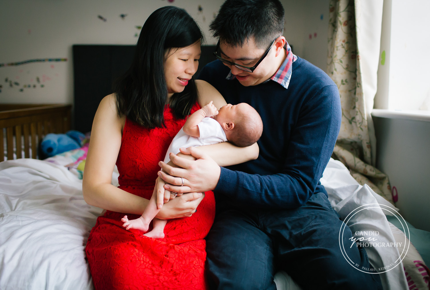 Birmingham UK chinese asian couple with newborn baby girl