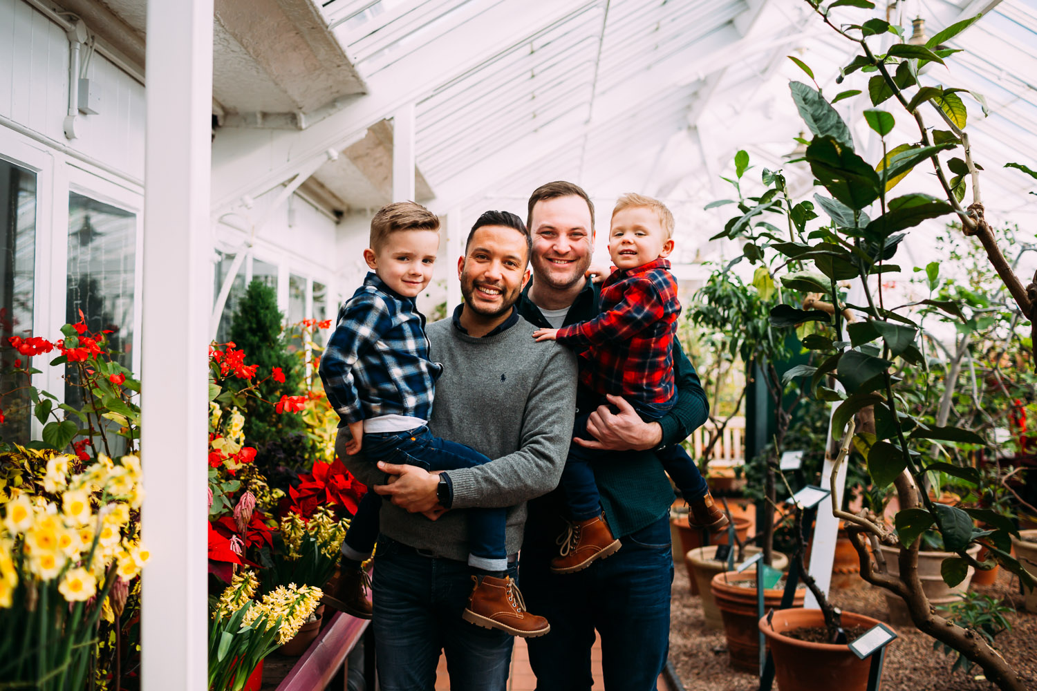 LGBTQ Family shoot in Birmingham Botanical Gardens