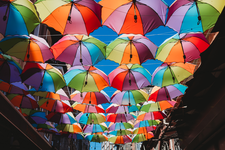 umbrella street in karakoy