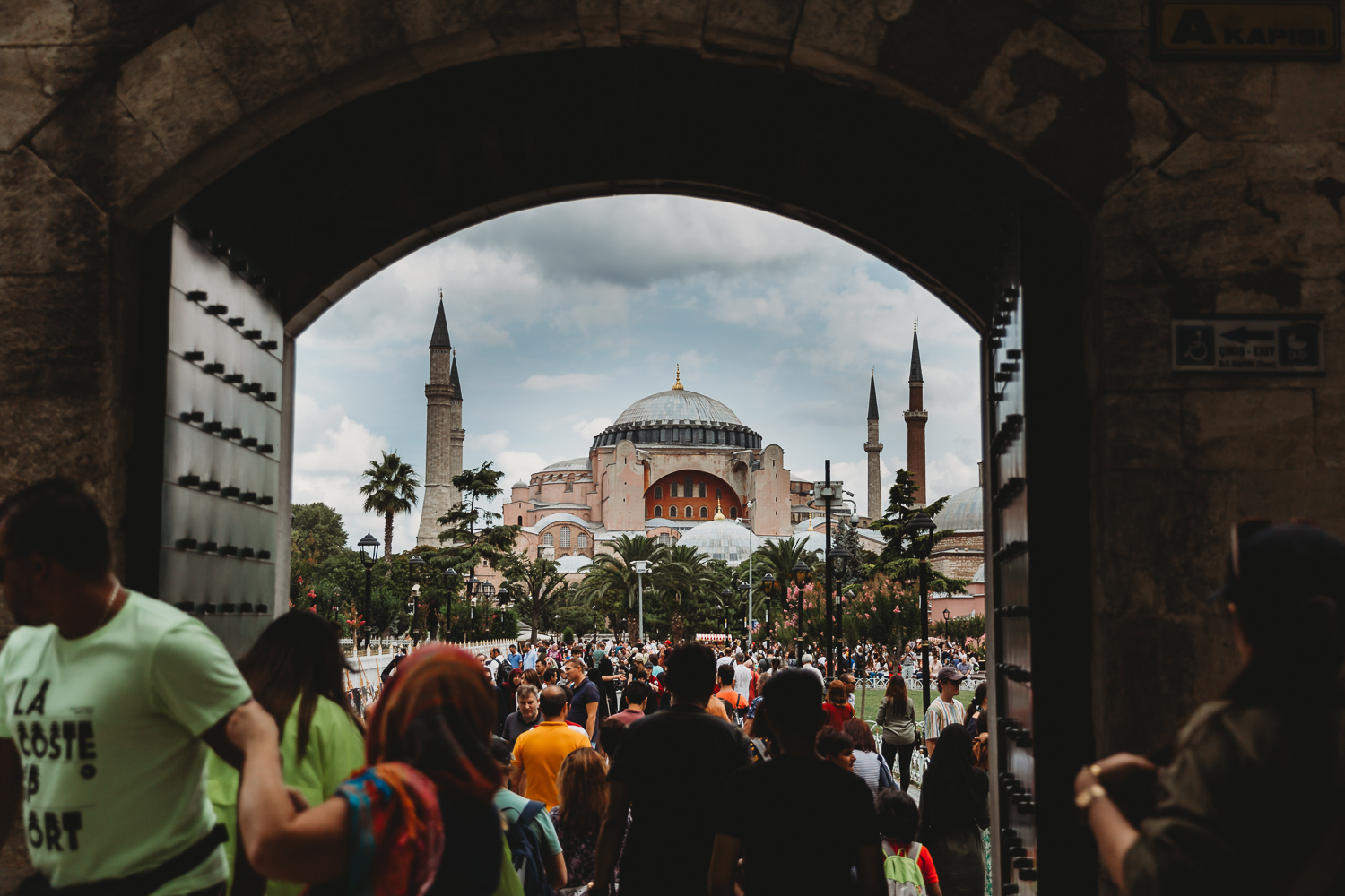 hagia sofia from blue mosque
