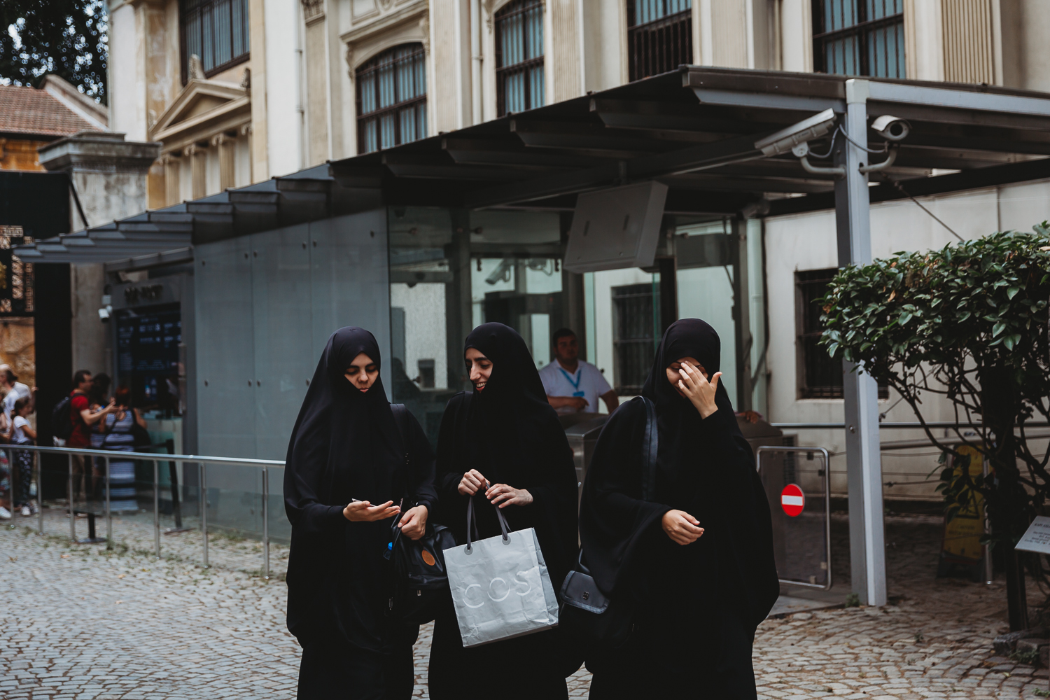 women in burqah in istanbul turkey