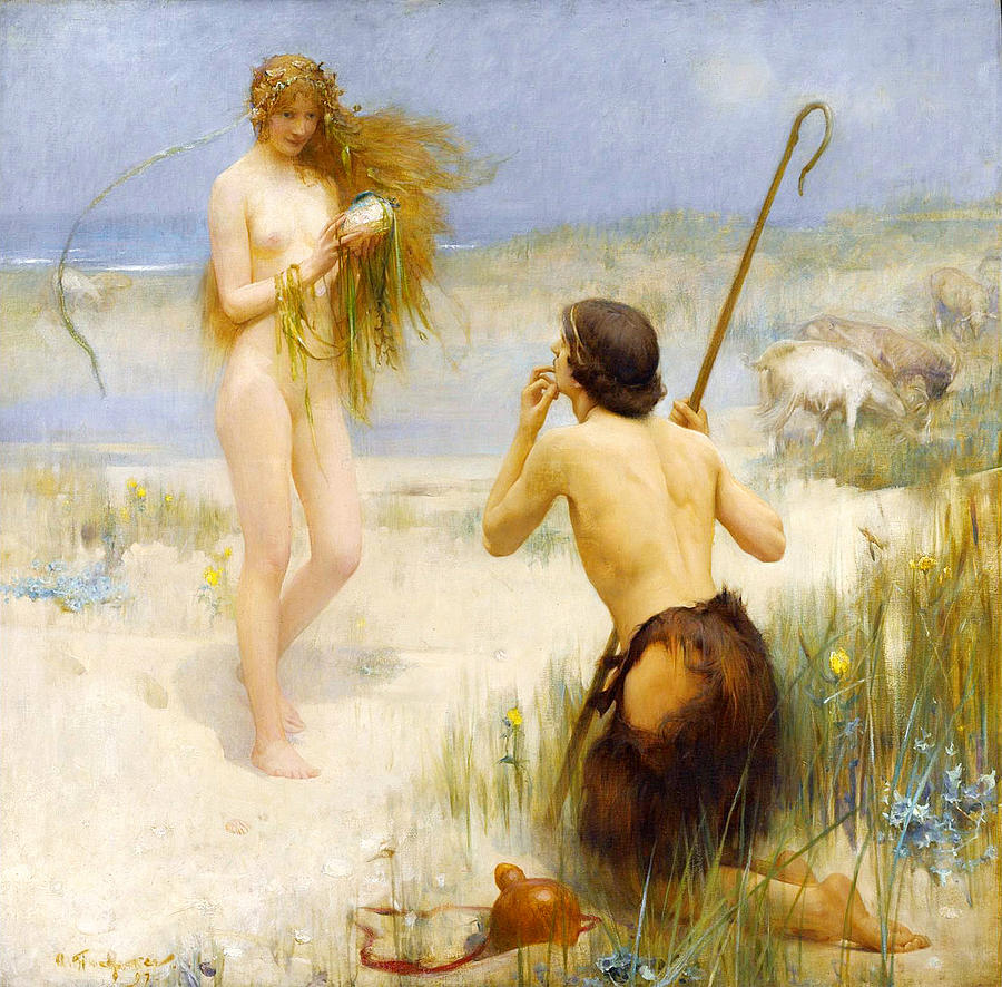 Painting by Arthur Hacker
