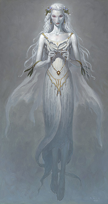 """Lady of the Lake - """"The Child Thief"""" art by  Gerald Brom"""