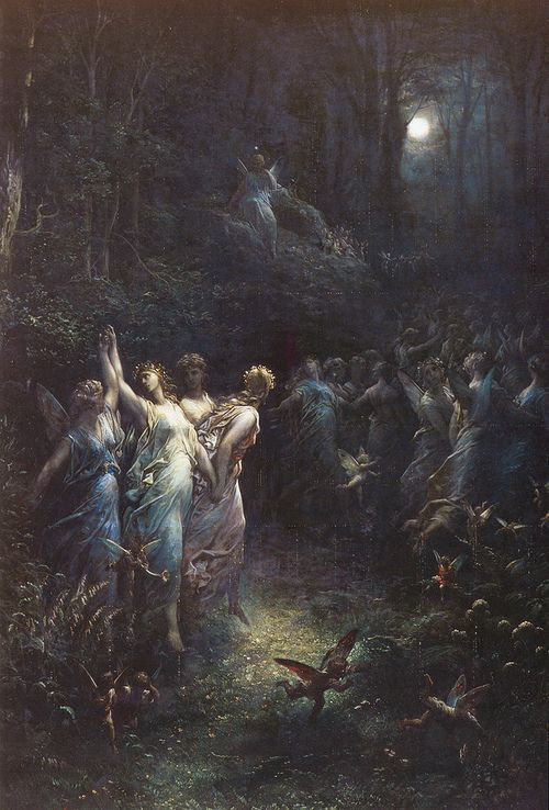 """Gustave Doré (French), """"A Midsummer Night's Dream"""", с.1870"""
