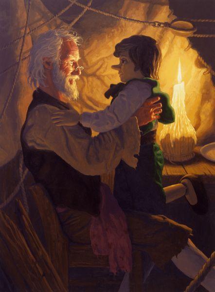 Pinocchio Runs Away by Greg Hildebrandt