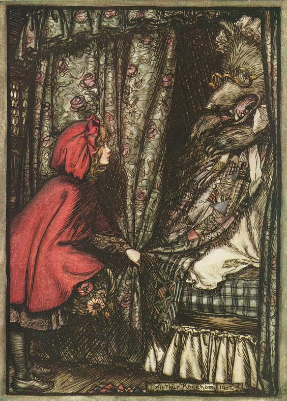 The Brothers Grimm Fairytales. Little Red Riding Hood. Arthur Rackham