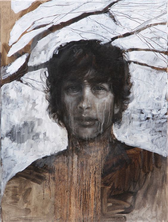 Portrait of Neil Gaiman Painting by Caitlin Karolczak