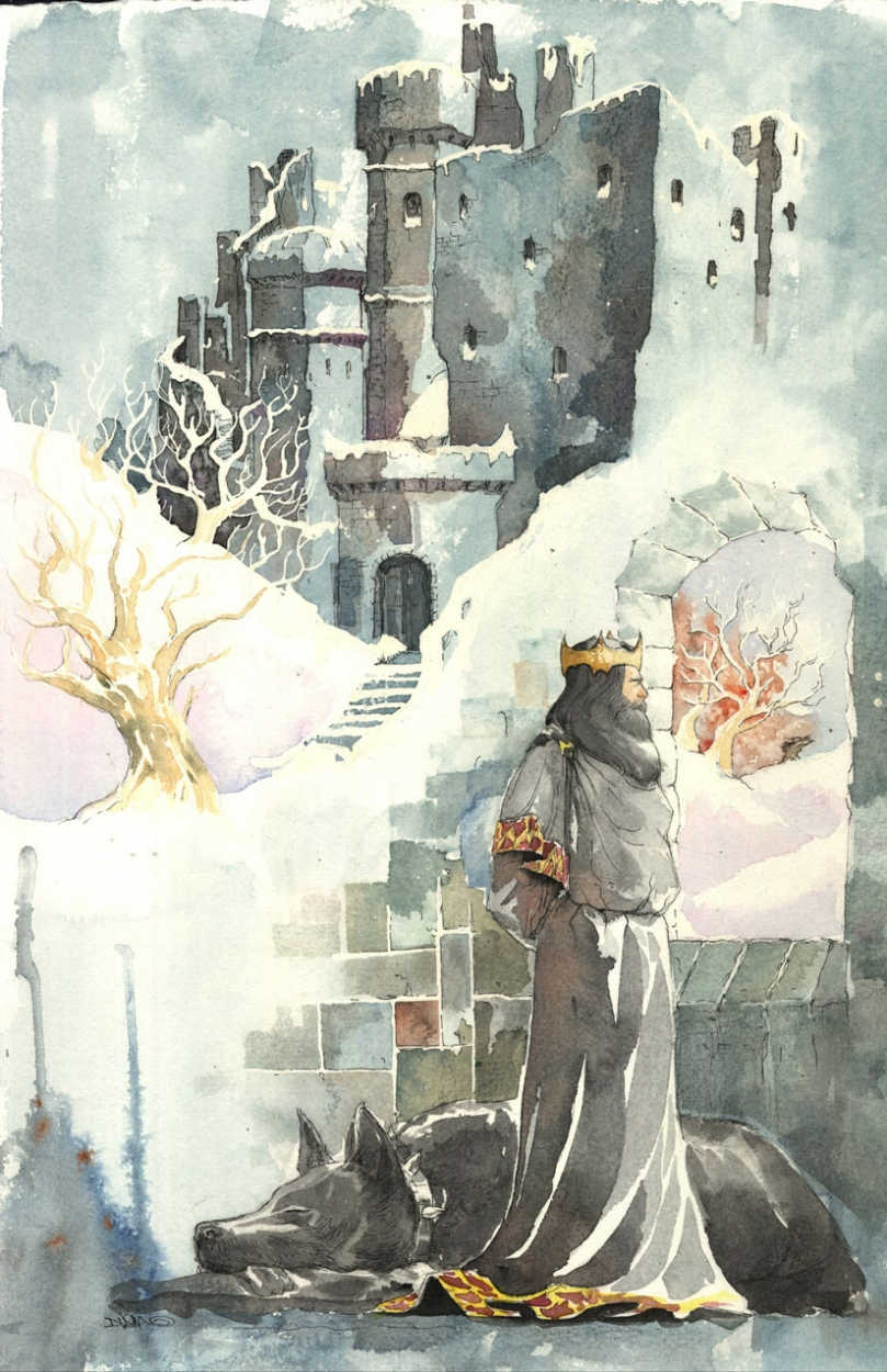 Batman as Good King Wenceslas by Dustin Nguyen, DC Comics