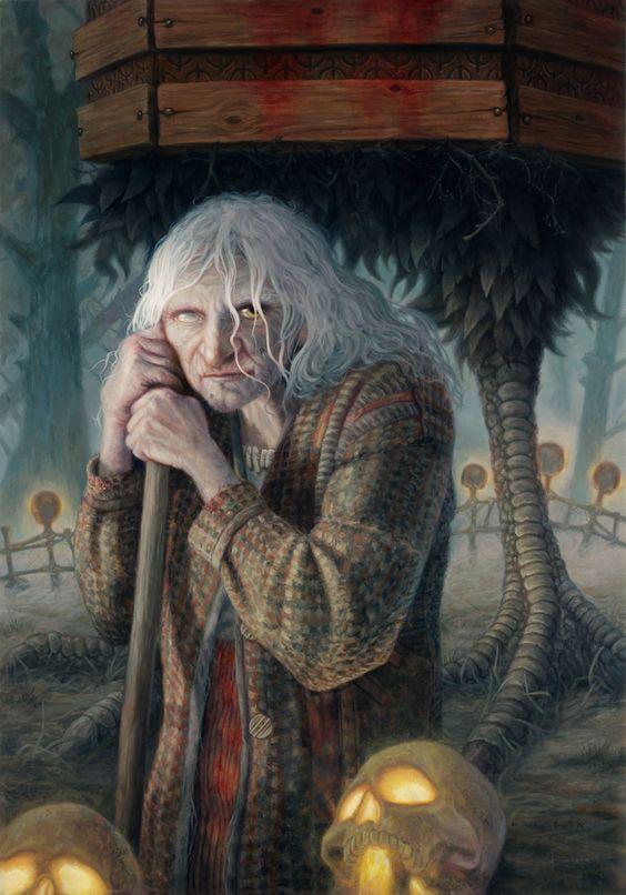 Baba Yaga by allendouglasstudio.deviantart.com