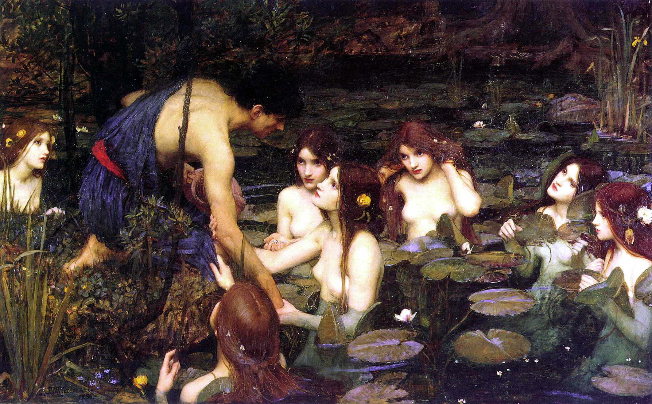 Waterhouse Hylas and the Nymphs Manchester Art Gallery 1896