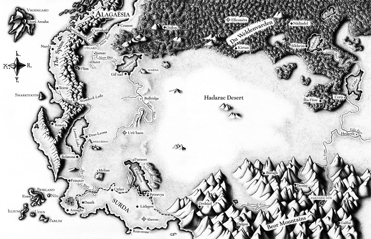 The Map of Alagaësia