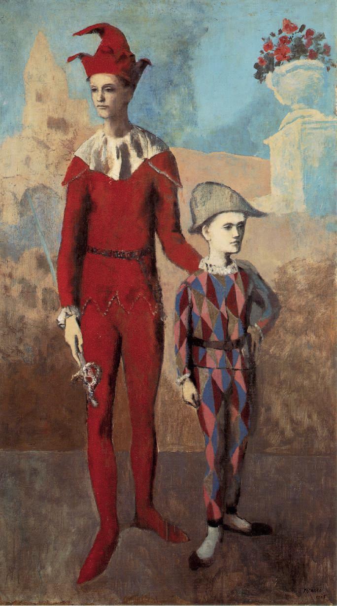 Pablo Picasso, 1905, Acrobate et jeune Arlequin