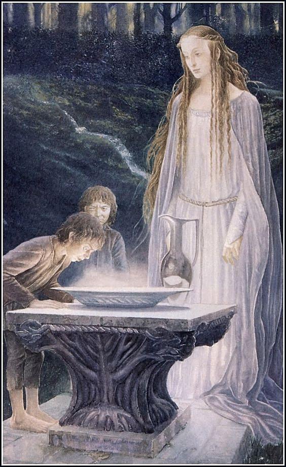 Galadriel's mirror, by Alan Lee