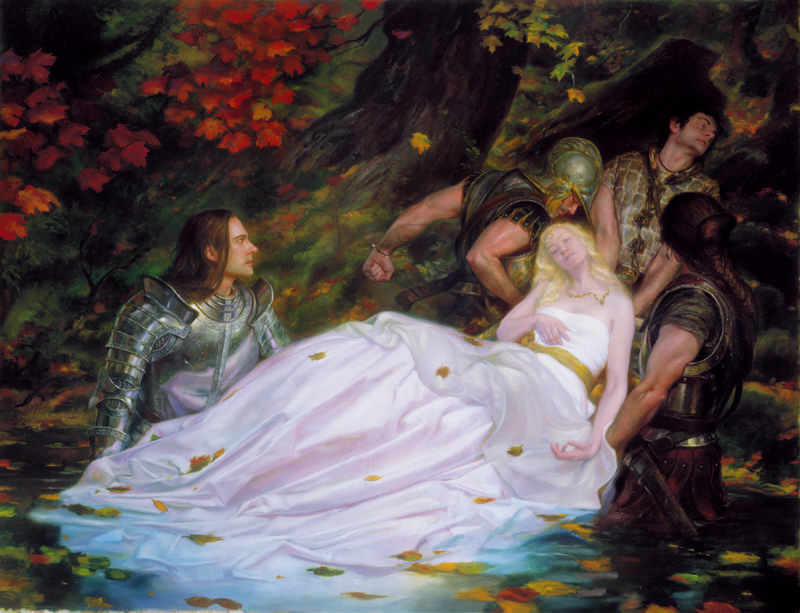Donato Giancola -Elegy for Darkness-The Lady of Shalott