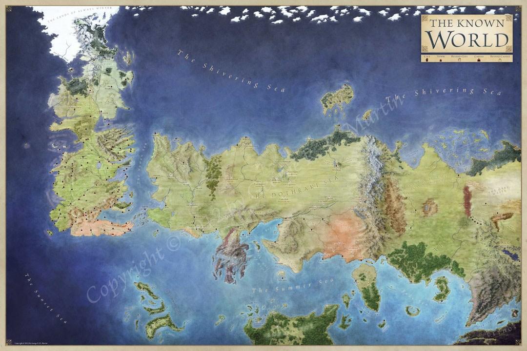 Map of Jonathan Roberts, Copyright 2017,George R. R. Martin