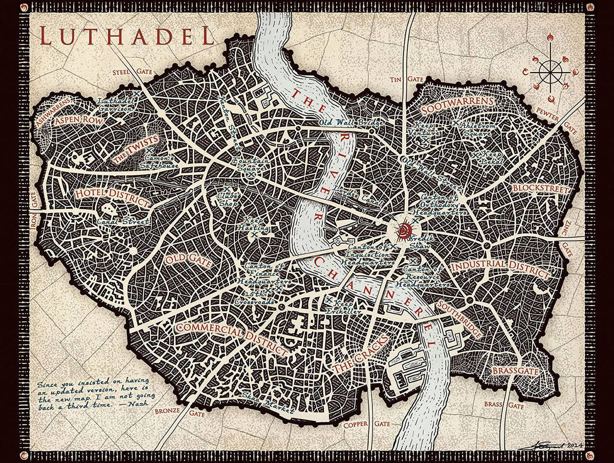 Luthadel Map by Isaac Stewart