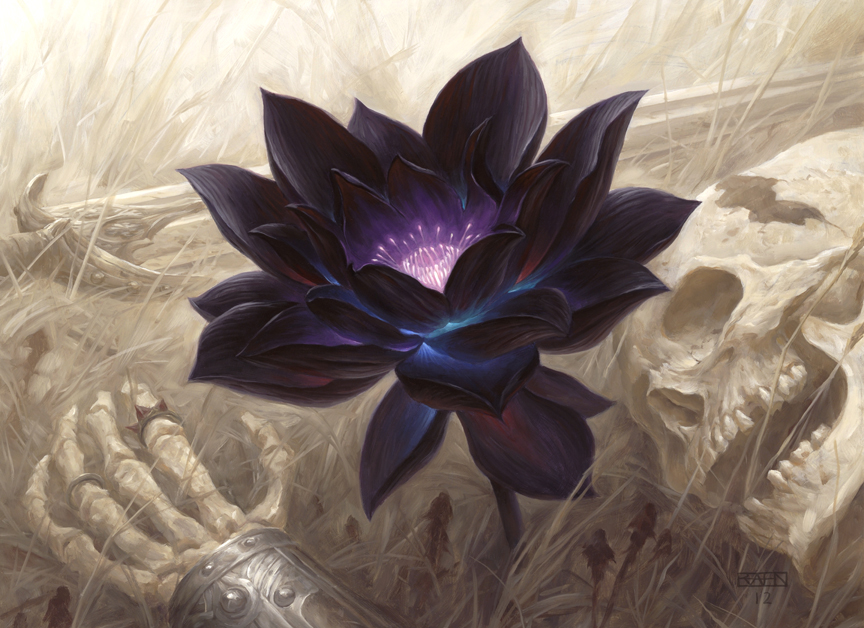 Black Lotus art by Chris Rahn