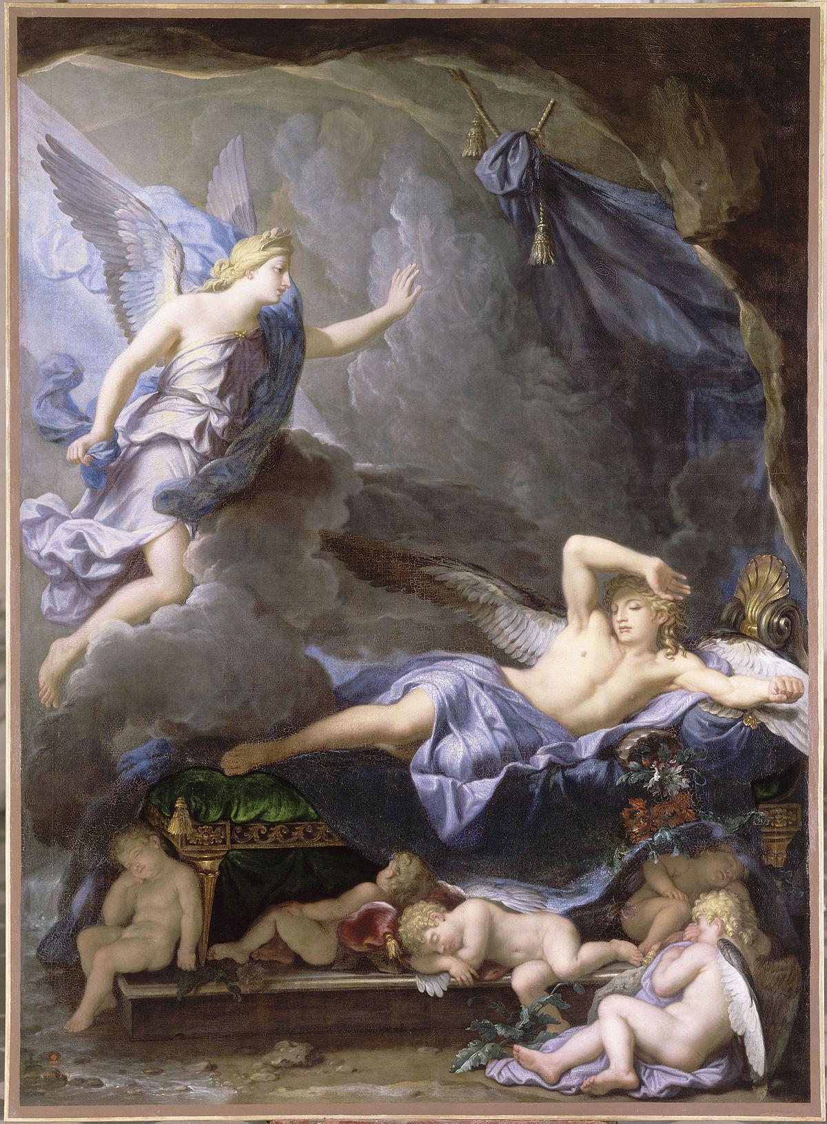 René-Antoine Houasse - Morpheus Awakening as Iris Draws Near, 1690