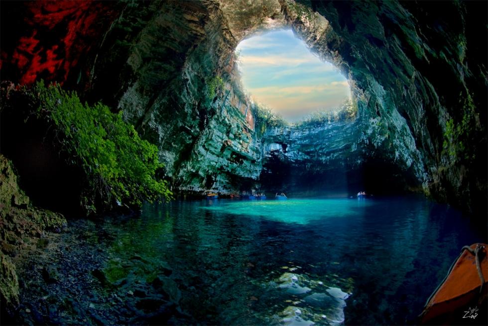 Melissani Lake - Photo source    here