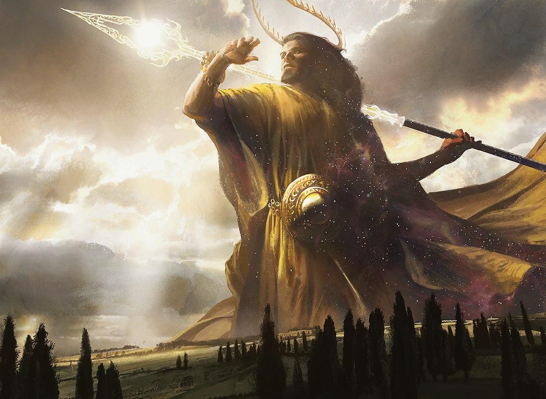 Heliod, God of the Sun MtG Art by Jaime Jones