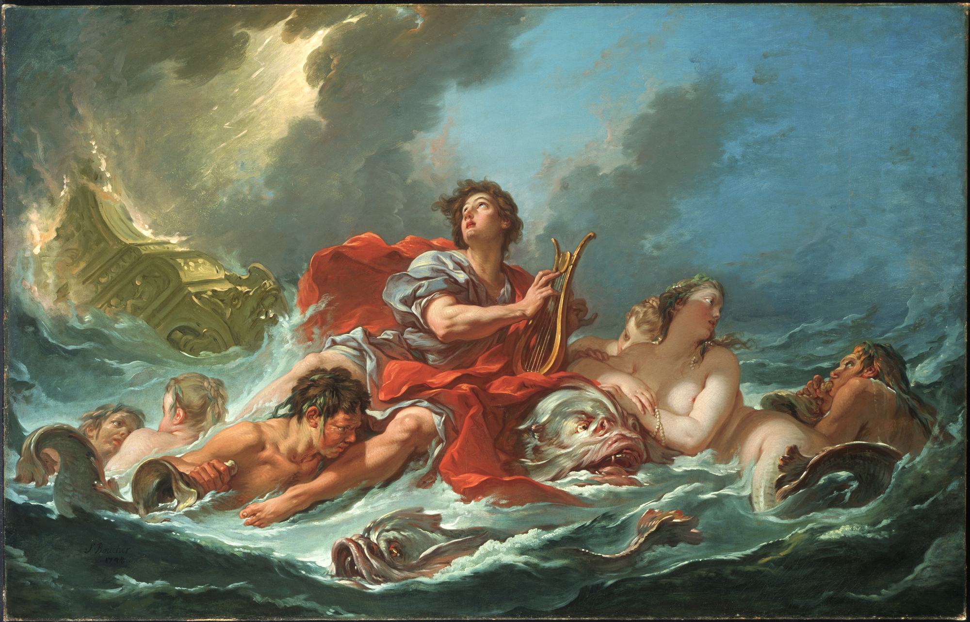 Arion On The Dolphin by Francois Boucher