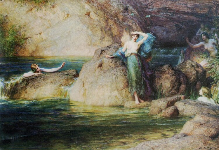 Myth of Alcyone - Herbert James Draper (1915)