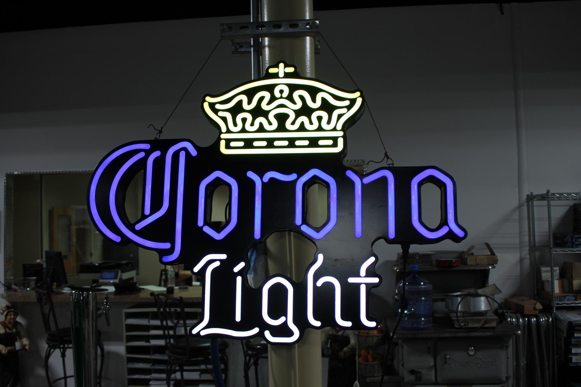 Corona Light Lrg Neon Sign