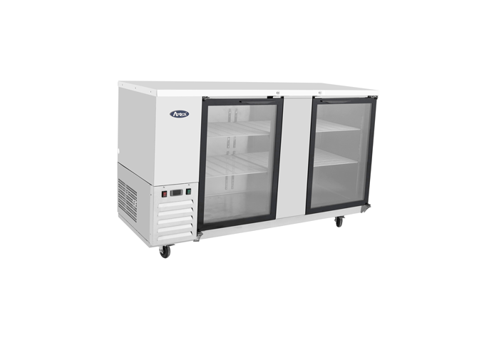 """(New) Atosa MBB69G(69"""" Glass Back Bar Cabinet)-Please Call for availability"""
