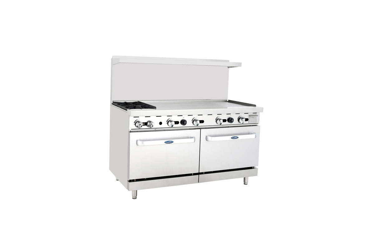 "(New) Atosa ATO-2B48G(60""/2 Bur/48"" Griddle)-Please Call"