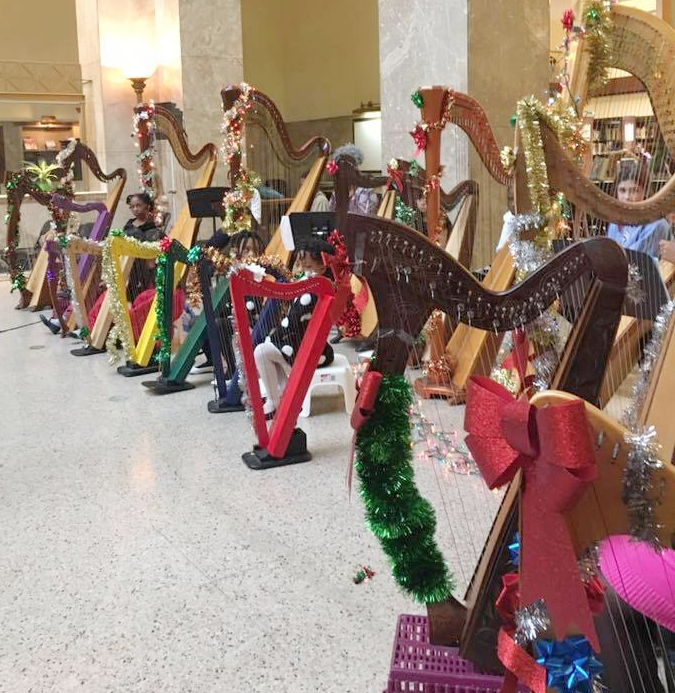 Harp Adventures Holiday Concert 2016 at the Enoch Pratt Free Library