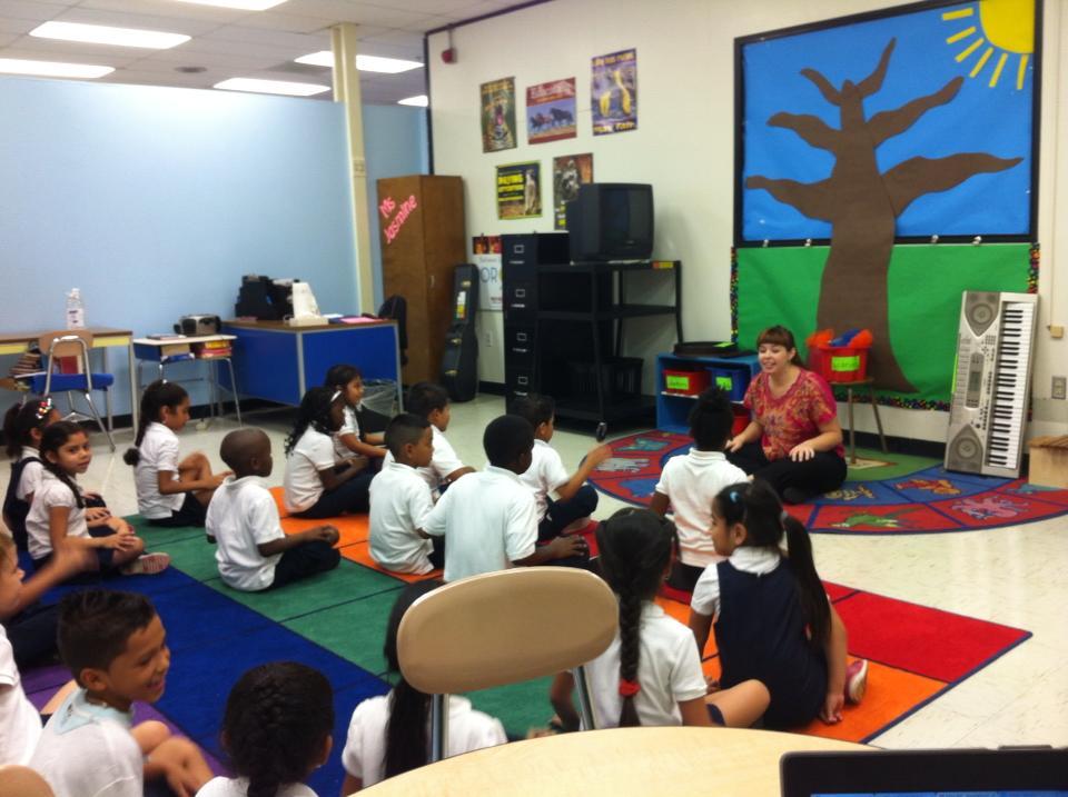 Teaching a musicianship class in Highlandtown