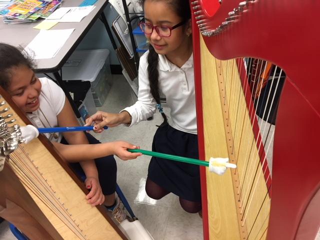 Having fun at ORCHkids Harp!