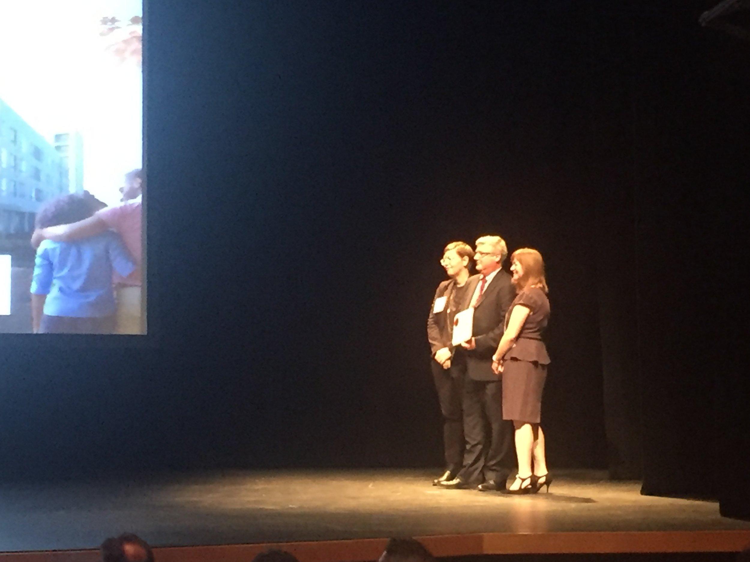 Senior Design Principal Bob Little, AIA, accepting the award on Wednesday evening at The Kimmel Center.