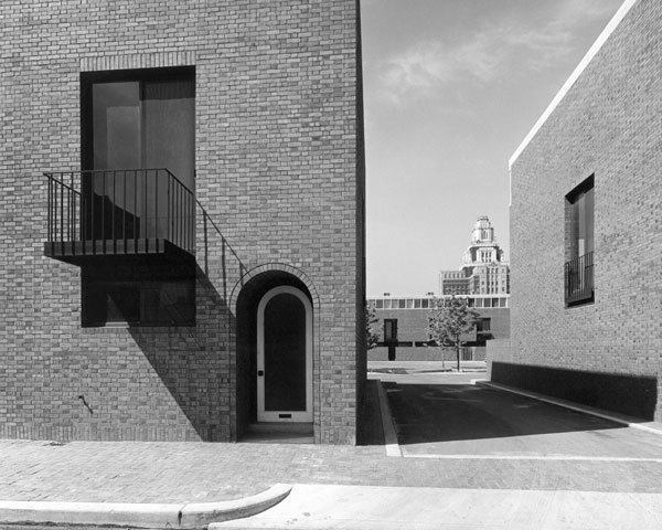 Photo of Bingham Court just after its completion.