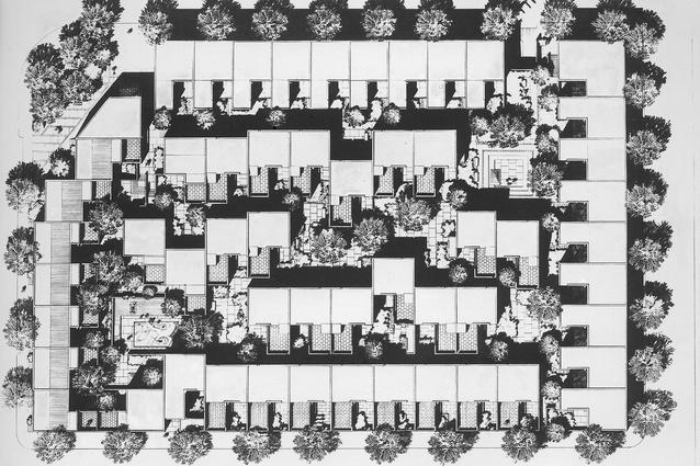 Siteplan of Sauer's Penn's Landing Square.