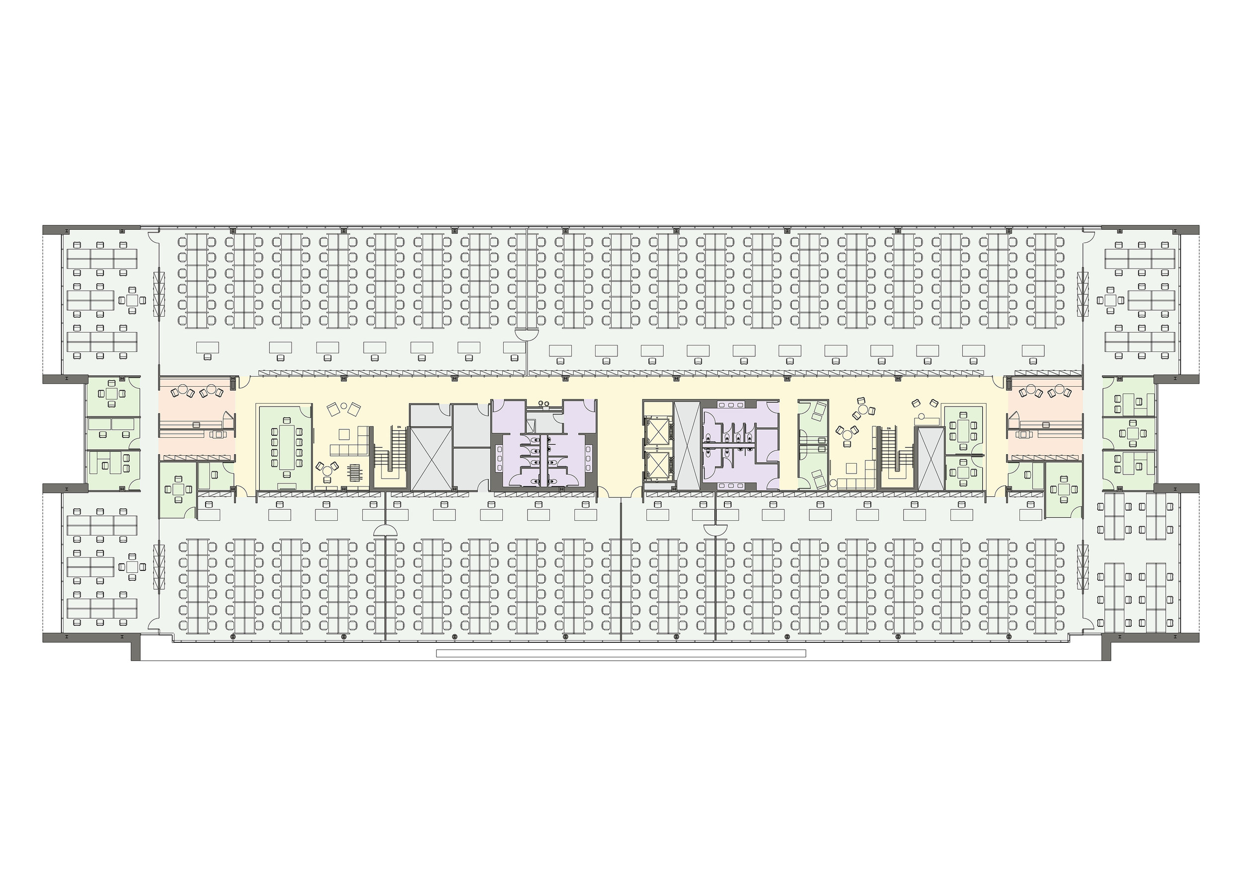 Typical Call Center Floor Plan