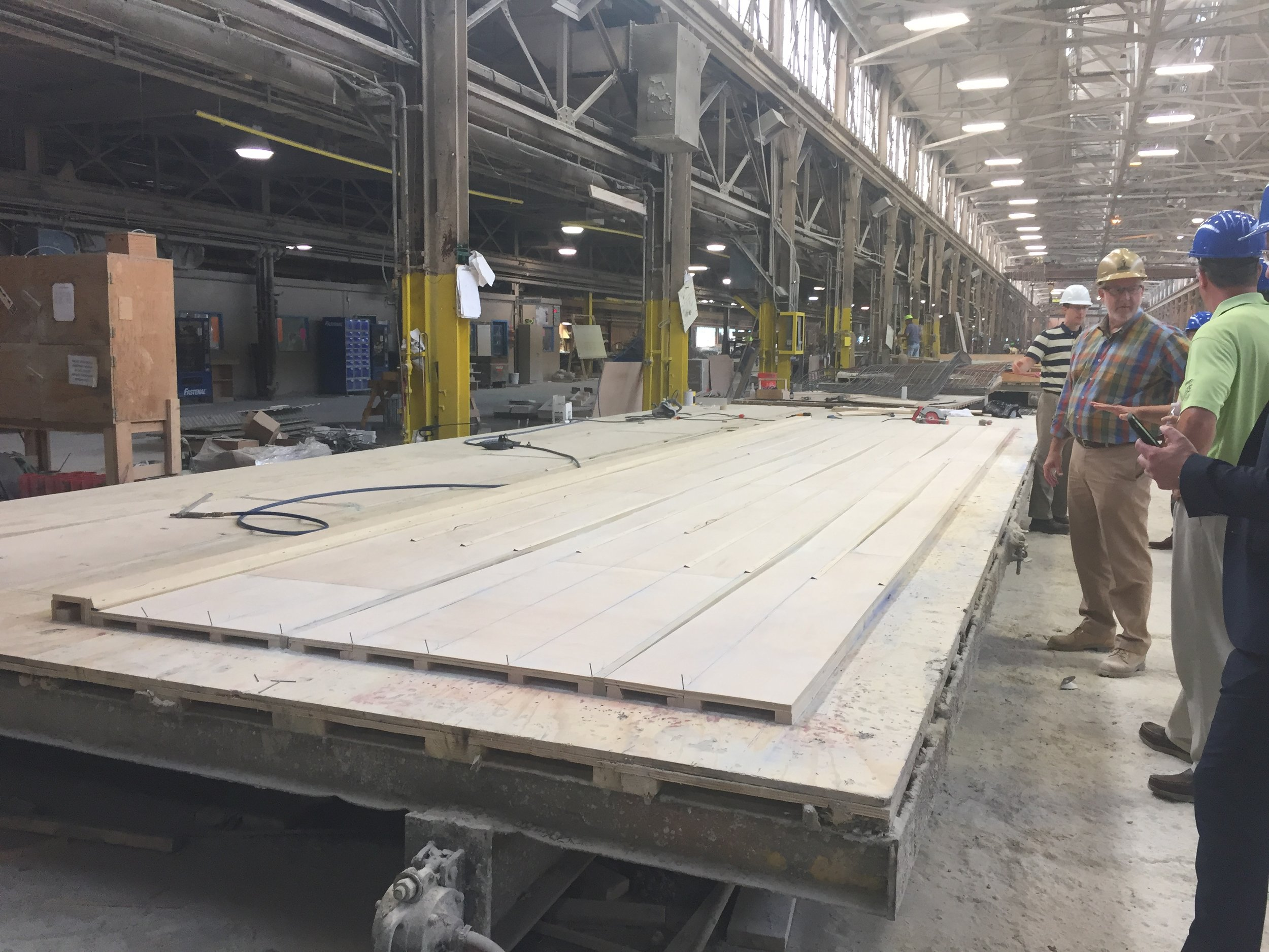 Wood molds for each panel were digitally design and hand constructed by Universal Concrete Products.