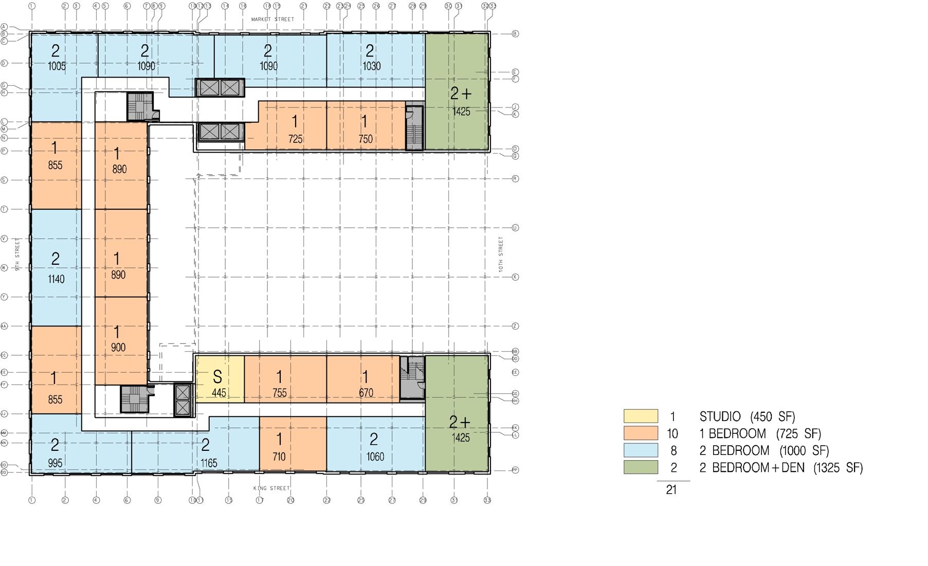 Twelfth + Thirteenth Floor Plans