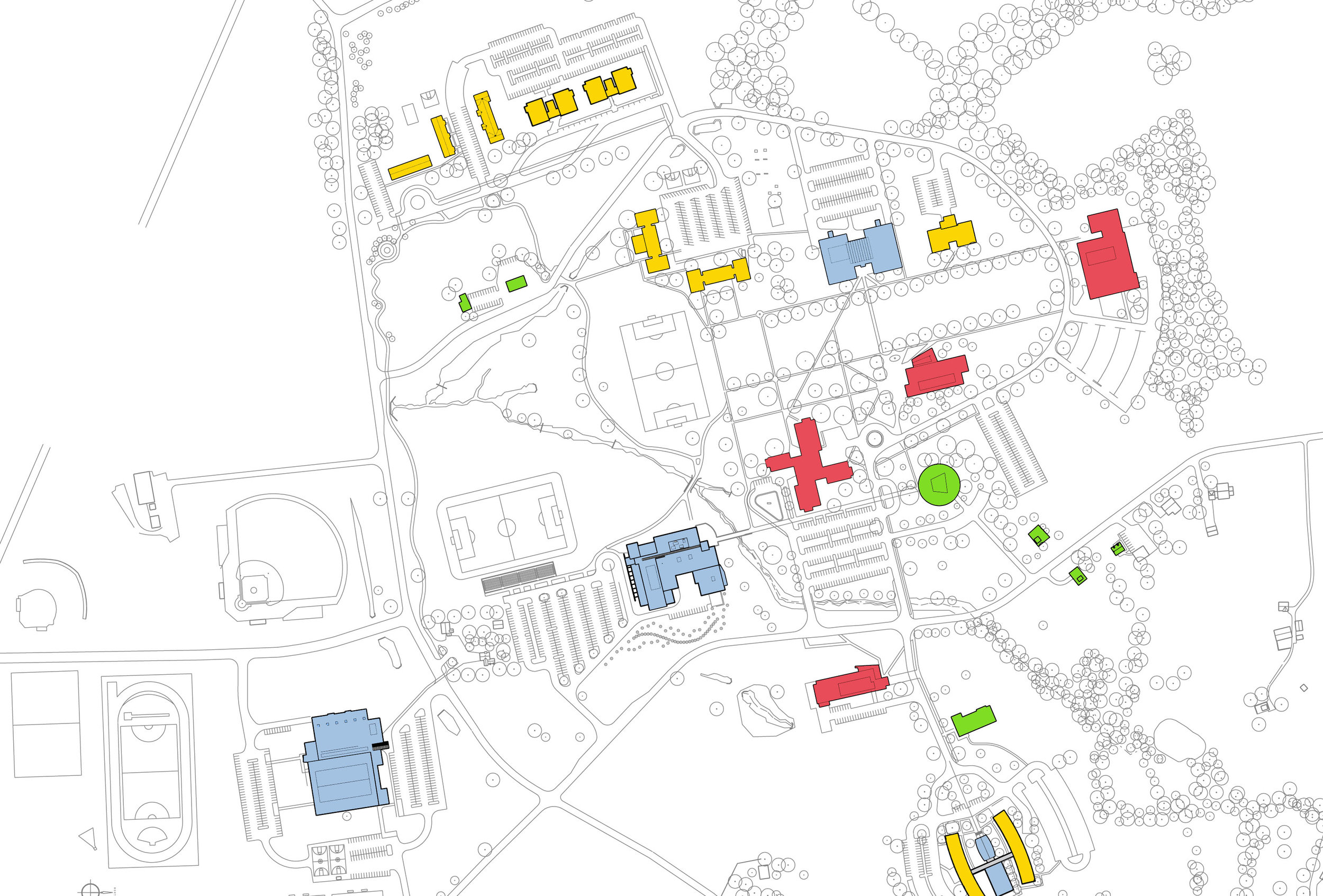 Campus Diagram - Existing Program.