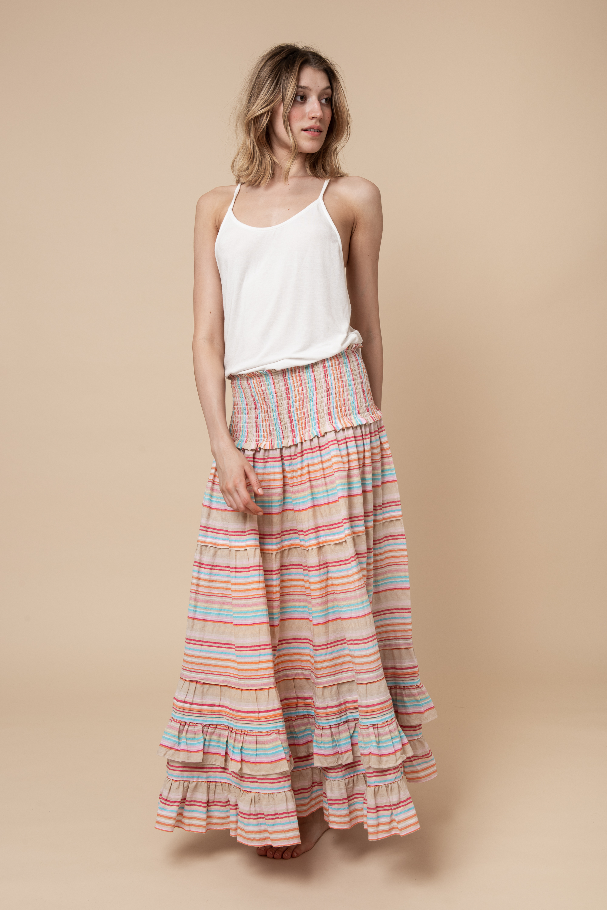THE TIVA The floaty full-length must-have skirt for summer 2019.
