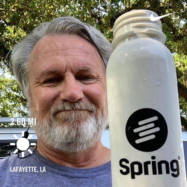 """Non-compensated endorsement: Check out Spring app for great music to run with. You select genre and beats per minute. I can't run without it! (Disclosure: I did get this cool water bottle for free!)"" - @davidscook313  #happyfathersday to all the coolest @springmoves dads!🚀🚀🚀 · · · · · #picoftheday #photooftheday #loveyourself #goals #instagood #liveauthentic #inspirationalquotes #motivate #makeithappen #fitness #instamood #goodvibes #mindfulness #positivevibes #passion #fathersday #inspirational #motivational #music #beats #springmoves #springapp #writers #quoteoftheday #musicapp #fitnessmusic #musicplaylist"